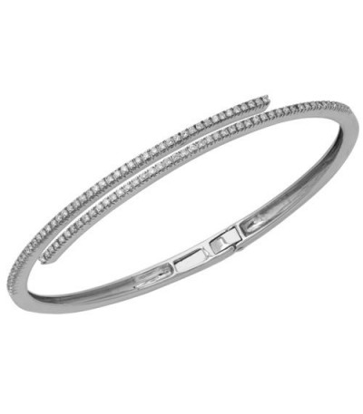 Bracelets - 0.54 Carat Diamond Bangle 18Kt White Gold