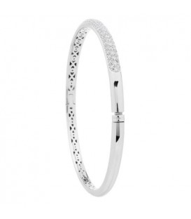 1.20 Carat Diamond Bangle 18Kt White Gold