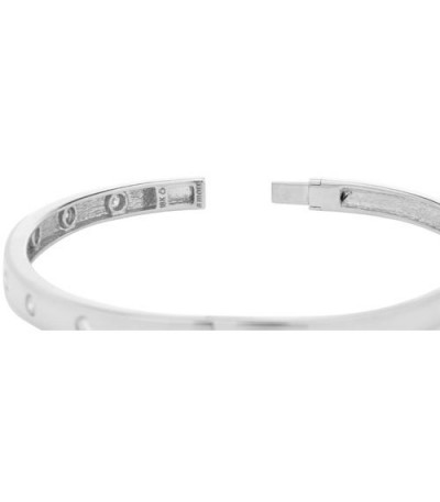 0.50 Carat Round Cut Diamond Bangle in 18Kt White Gold