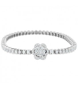 More about 3.50 Carat Diamond Bracelet 18Kt White Gold