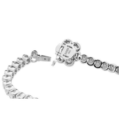 3.50 Carat Diamond Bracelet 18Kt White Gold