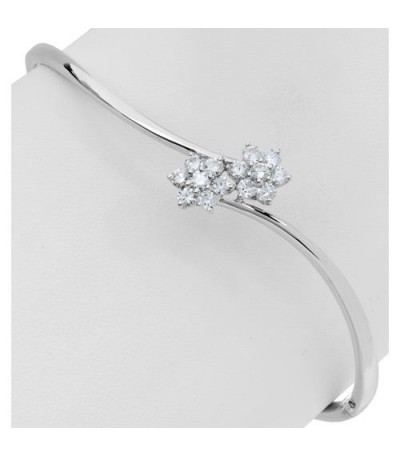 0.76 Carat Diamond Bangle 18Kt White Gold