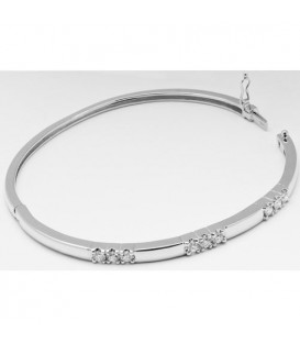 0.66 Carat Diamond Bangle 18Kt White Gold