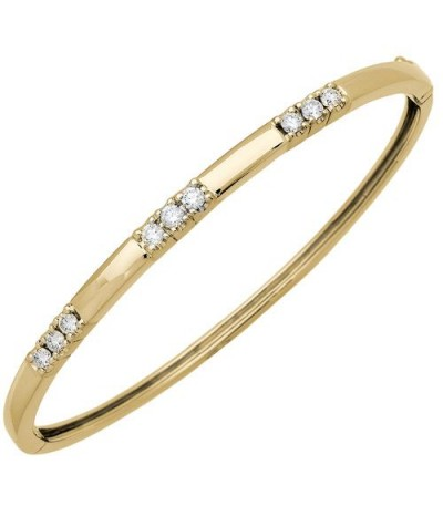 Bracelets - 0.66 Carat Diamond Bangle 18Kt Yellow Gold