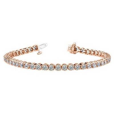 Bracelets - 2.00 Carat Diamond Tennis Bracelet 18Kt Rose Gold