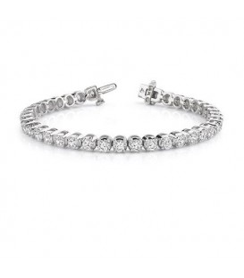 Bracelets - 2.00 Carat Diamond Tennis Bracelet 18Kt White Gold