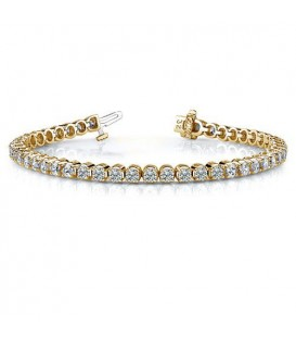2.00 Carat Diamond Tennis Bracelet 18Kt Yellow Gold