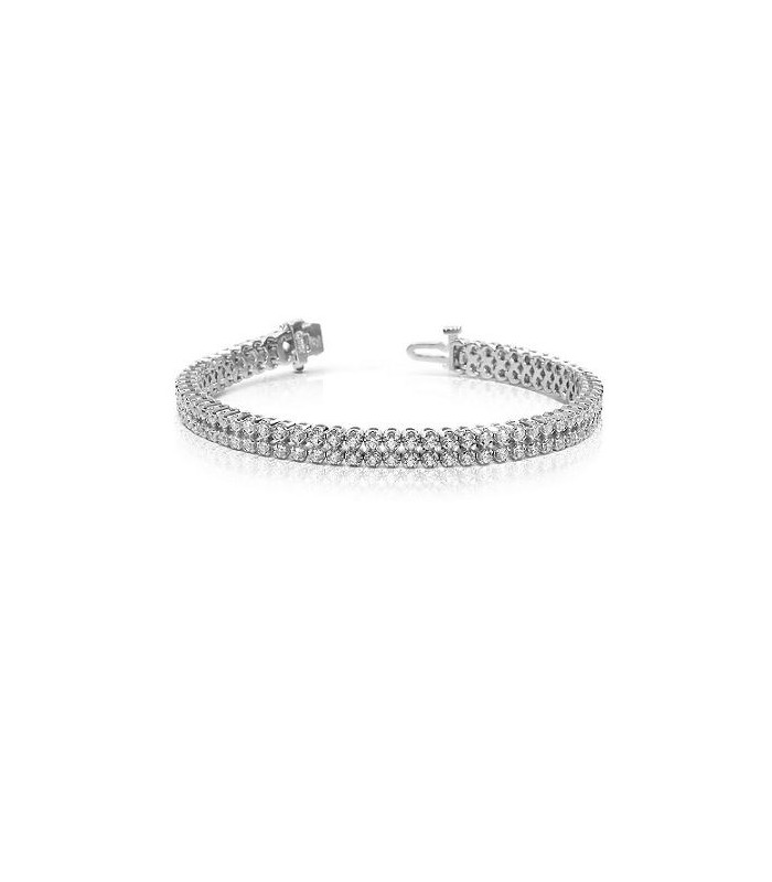 Round 3 50ct Diamond Bracelet 18kt White Gold Amoro
