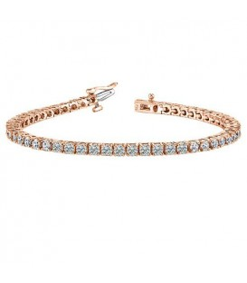 2.00 Carat Diamond Tennis Bracelet 18Kt Rose Gold
