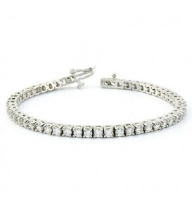 More about 2.00 Carat Diamond Tennis Bracelet 18Kt White Gold