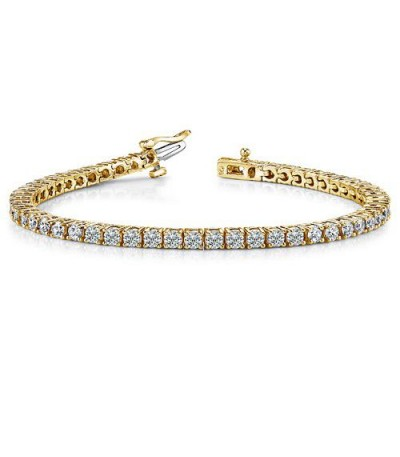 Bracelets - 2.00 Carat Diamond Tennis Bracelet 18Kt Yellow Gold