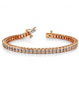 More about 2.00 Carat Diamond Tennis Bracelet 18Kt Rose Gold