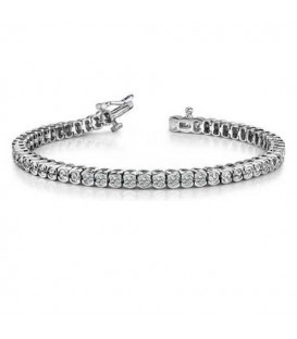 2.00 Carat Diamond Tennis Bracelet 18Kt White Gold