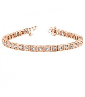1.50 Carat Diamond Tennis Bracelet 18Kt Rose Gold