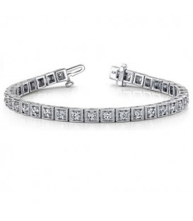 Bracelets - 1.50 Carat Diamond Tennis Bracelet 18Kt White Gold