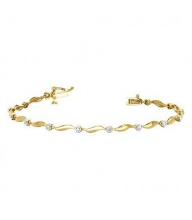 0.25 Carat Diamond Tennis Bracelet 18Kt Yellow Gold