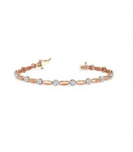 Bracelets - 0.25 Carat Diamond Tennis Bracelet 18Kt Rose Gold
