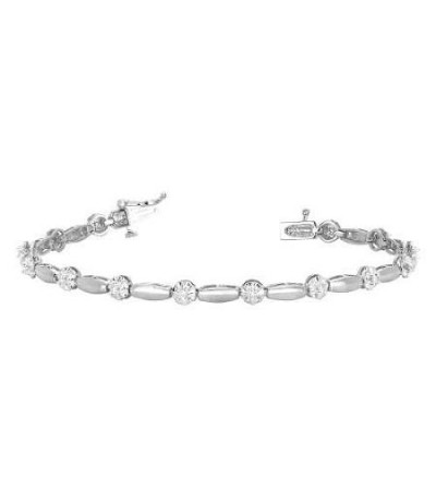 Bracelets - 0.25 Carat Diamond Tennis Bracelet 18Kt White Gold