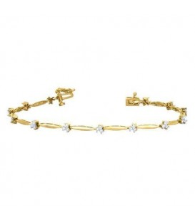 More about 0.50 Carat Diamond Tennis Bracelet 18Kt Yellow Gold