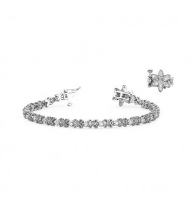 Bracelets - 0.50 Carat Diamond Tennis Bracelet 18Kt White Gold