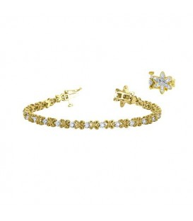 Bracelets - 0.50 Carat Diamond Tennis Bracelet 18Kt Yellow Gold