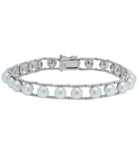 More about 6-7mm Cultured Freshwater Pearl Bracelet 925 Sterling Silver