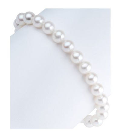 6-7mm Cultured Freshwater Pearl Bracelet 925 Sterling Silver Clasp