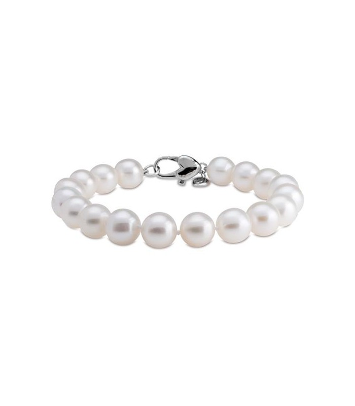 Cultured Freshwater Pearl Bracelet 9 10mm 925 Silver Amoro