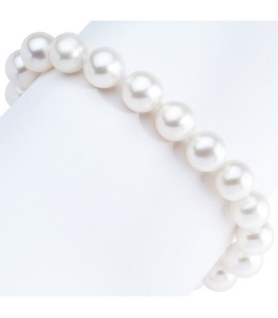 9-10mm Cultured Freshwater Pearl Bracelet 925 Sterling Silver Clasp