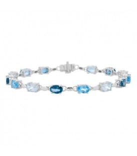 More about 8.85 Carat Blue Topaz Bracelet 14Kt White Gold
