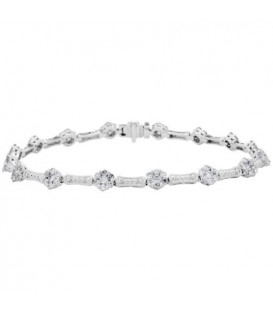 More about 2.02 Carat Diamond Bracelet 14Kt White Gold