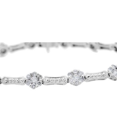 2.02 Carat Diamond Bracelet 14Kt White Gold