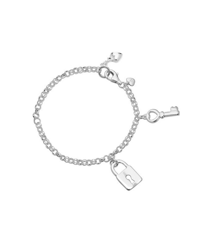 Fine Jewelry Nice Bangle 925 Silver Silver Bracelet With Lock