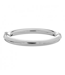 Bracelets - Italian Large Rounded Bangle Bracelet 925 Sterling Silver