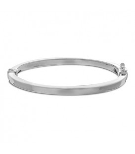 Italian Small Squared Bangle Bracelet 925 Sterling Silver