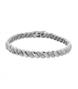 More about 0.11 Carat Diamond Wave Bracelet 925 Sterling Silver