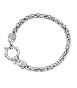 More about 0.11 Carat Diamond Woven Bracelet 925 Sterling Silver