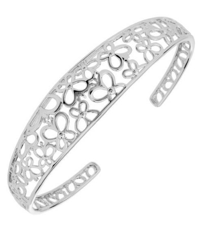 Bracelets - Butterfly Bangle Bracelet 925 Sterling Silver