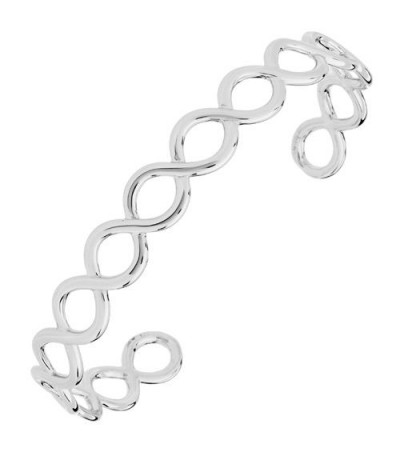 Bracelets - Circle Weave Bangle Bracelet 925 Sterling Silver