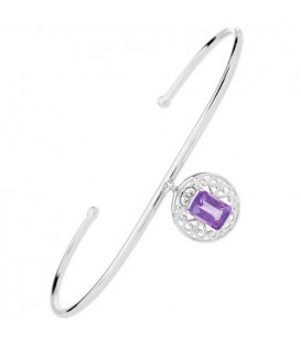 More about 0.80 Carat Amethyst Bangle Bracelet 925 Sterling Silver