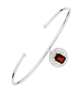 More about 0.80 Carat Garnet Bangle Bracelet 925 Sterling Silver