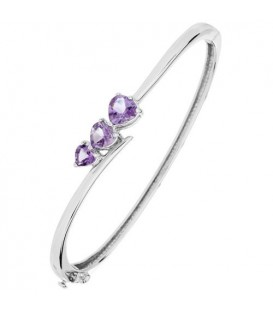 More about 1.80 Carat Amethyst Bangle Bracelet 925 Sterling Silver