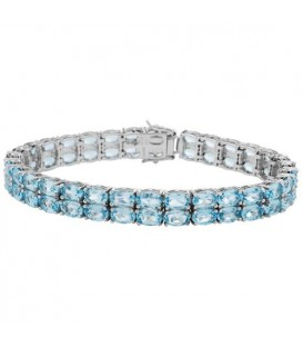 More about 28.20 Carat Blue Topaz Bracelet 925 Sterling Silver
