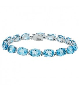 More about 30.60 Carat Blue Topaz Bracelet 925 Sterling Silver