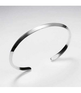 Bracelets - Wave Bangle 925 Sterling Silver