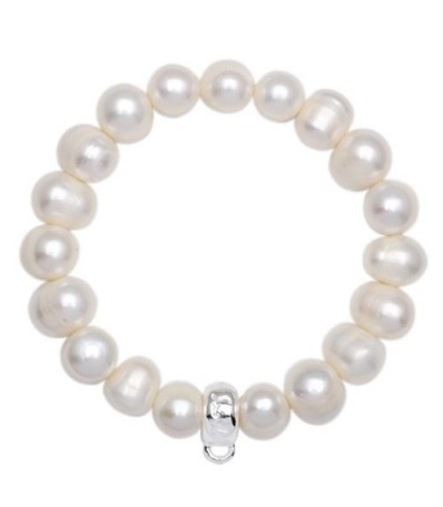 Bracelets - Sandals Medium Cultured Pearl Charm Bracelet 925 Sterling Silver