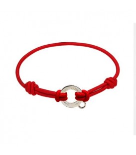 "Sandals 7.5"" Clip On Charm Bracelet Red Cord 925 Silver"
