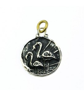 Sandals Bahamas Royal Bahamian Resort Flamingo Pendant 925 Sterling Silver