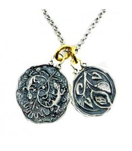 Pendants - Sandals La Source Grenada's Gecko + Grenada Nutmeg Sterling Silver Necklace with a Silver Finish Chain