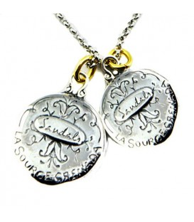 Sandals La Source Grenada's Gecko + Grenada Nutmeg Sterling Silver Necklace with a Silver Finish Chain